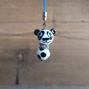 Glass Dragonfly Ball Animal Cell Phone Charm Panda Bear