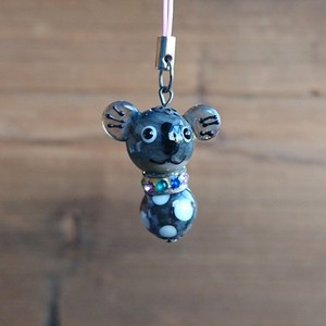 Glass Dragonfly Ball Animal Cell Phone Charm Koala