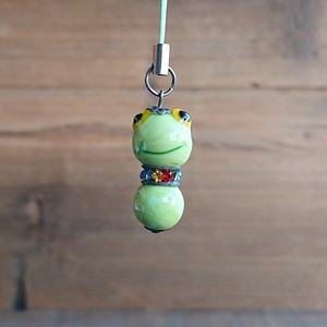 Glass Dragonfly Ball Animal Cell Phone Charm Frog
