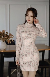 One-piece Dress Long Sleeve One-piece Dress Party Dress Office Lady