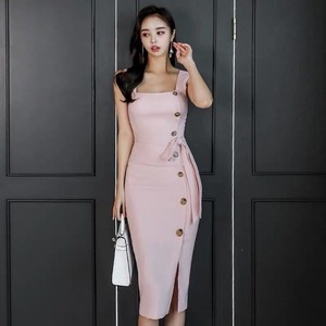 One-piece Dress Party Dress Semi-formal Ladies One-piece Dress Long Party Dress Sleeveless