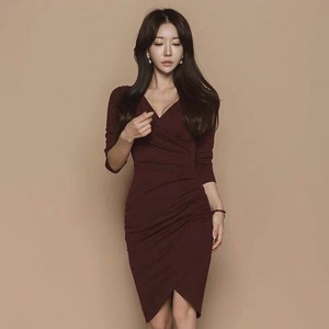 One-piece Dress One-piece Dress Long Sleeve Miss Long Party Dress Office Lady