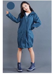 Light blue Rain Raincoat Ladies Rainwear Rain Poncho Kappa