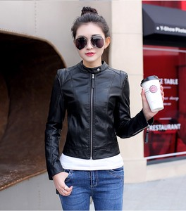 Ladies Jacket Motorcycle Leather Jacket Leather Jacket Single