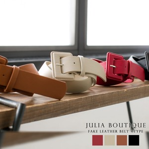 [ 2020NewItem ] Belt Leather Square Buckle Belt