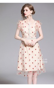 Embroidery Wedding Concert Party One-piece Dress