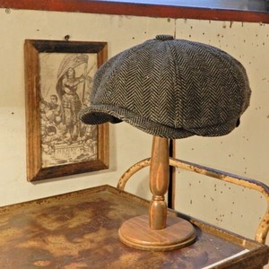Wool Tweed Casquette Gray Herringbone [ 2020NewItem ]