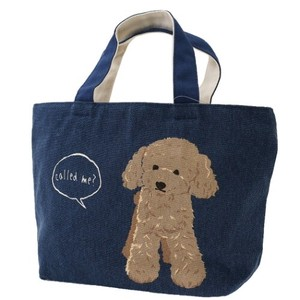 Lunch Tote Fastener Attached Bag Poodle
