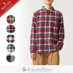 Funwari Checkered Gigging Basic Shirt