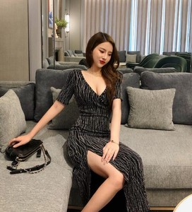 Ladies One-piece Dress Sexy Semi-formal Beautiful Sexy Long One Piece