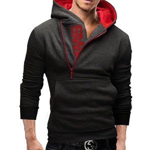 Men's Long Sleeve Hoody Plain Men's Hoody Dark Gray
