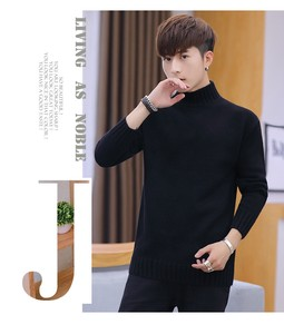 Warm Turtle Neck Long Sleeve Knitted Top Sweater