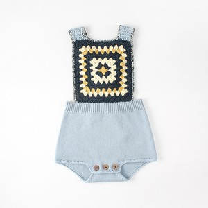 Baby Knitted Overall Cover All All-in-one Girl Kids Baby