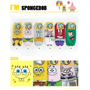 Korea Sponge Bob Socks Ladies Socks Free Size