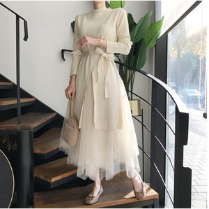[2019NewItem] Knitted Skirt Suit Set One-piece Dress