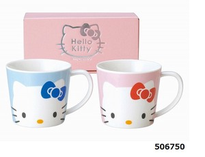 Hello Kitty Face Pair Mag Cups Set