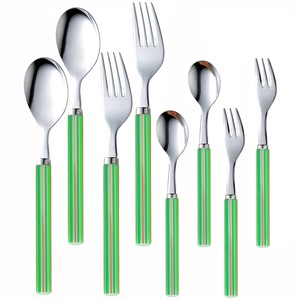 NAGAO stainless stripe cutlery green