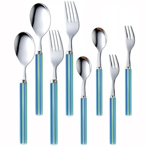 NAGAO stainless stripe cutlery blue