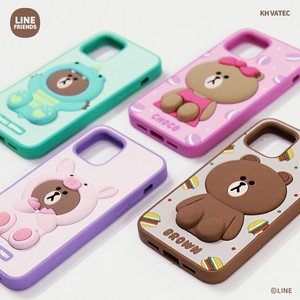 iPhone SE/11 Pro/11/XS/X/8/7 ケース LINE FRIENDS SILICON CASE