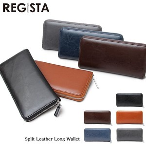Leather Round Long Wallet Long Wallet