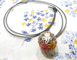 Hand Knitting Embroidery Necklace