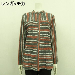 2 Colors Gigging Pleats Long Sleeve Tunic