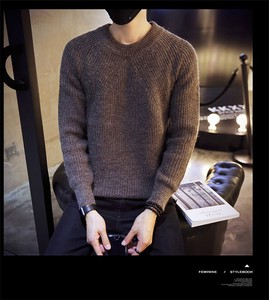 A/W Men's Fashion Men Top Sweater Knitted Turtle Neck