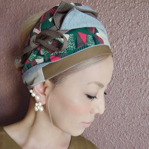 Green Pink Attached Turban Adjustment Freedom