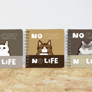 Ring Notebook Cat Square