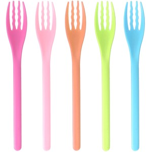 NAGAO Easy to eat soft fork colorful 5pcs