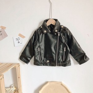 Girl Motorcycle Leather Jacket A/W Outerwear Kids Children's Clothing