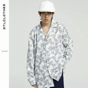 Men's Floral Pattern Long Sleeve Shirt Unisex Street Outerwear