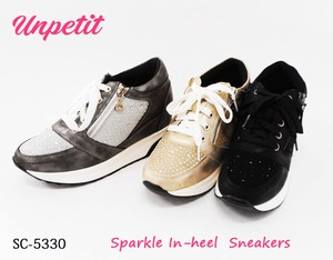 Glitter Sneaker Heel Diamond Lace Cushion SC