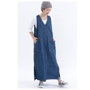 Denim One-piece Dress Apron