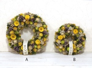 Natural Wreath Happiness Yellow