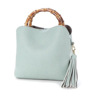 Bamboo Handle Push Shoulder Bag