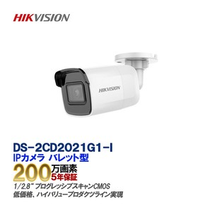 IP CAMERA 2メガDWDR IR バレットネットワークカメラ DS-2CD2021G1-I,