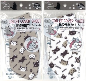 To Paste Toilet Seat Cover Sheet Cat