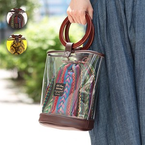 Wood Handle Vinyl Bag Vinyl Bag Adult Pouch S/S Ethnic Asia