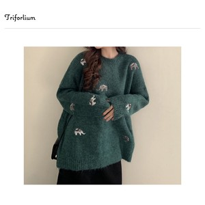 [2019NewItem] 2 Colors Embroidery Leisurely Knitted