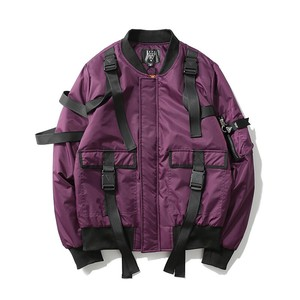 Men's Fashion Zip‐up Jacket Unisex Street Outerwear A/W