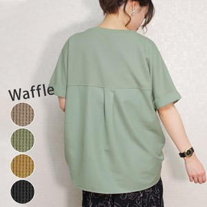 Linen Switching Waffle Pullover myke