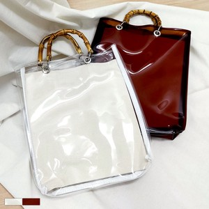 Bamboo Handle Clear Bag