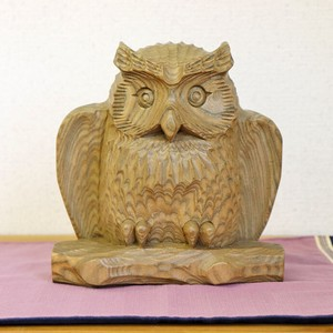 Owl Wooden Natural Wood Owl Owl Ornament Interior