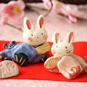 Handmade Rabbit Ceramic Handmade Hina Doll Rabbit Rabbit