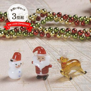 Handmade Glass Christmas Vietnam Glass Ornament Santa Snowman Reindeer