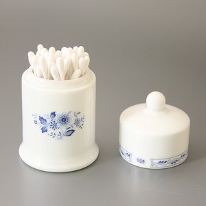 Blue Flower Cotton Swab 1 Pc Cotton Swab Storage Interior Storage Floral Pattern