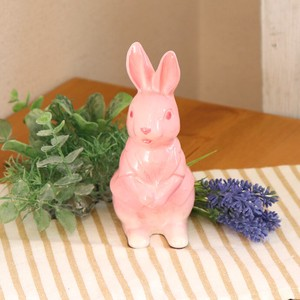 Seto ware Pink Rabbit 1 Pc Ceramic Seto ware Rabbit Pink 15cm