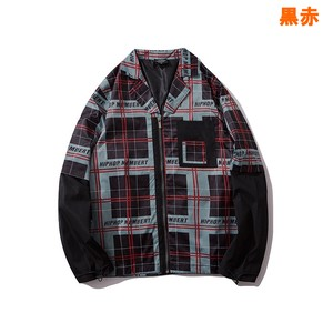 Men's Checkered Jacket Unisex Street Outerwear A/W