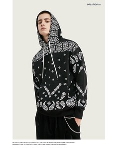 Men's Ethnic Casual Hoody Unisex Pullover Food Top A/W